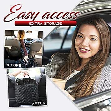 Tasche f/ür Handtaschen,Fahreraufbewahrung Netz-Organizer Autositz-Aufbewahrungstasche Handtaschen-Halter Aufbewahrungstasche Netztasche mit Tasche auf der R/ückseite AOFEI Auto-Netztasche
