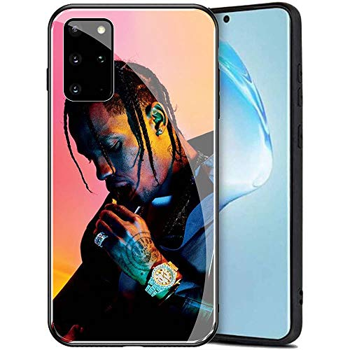 Samsung Galaxy S20 Ultra Case, Tempered Glass Back Cover Soft Silicone Bumper Compatible with Samsung Galaxy S20 Ultra AMB-2 Astroworld Travis Scott