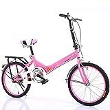 MCLJR Bicicleta Infantil para,Bicicleta para Niños De 16,20 Pulgadas,Marco De Acero con Alto Contenido De Carbono,Absorción De Impactos,Adecuado para Una Altura De 110-175 Cm,Rosado,16 Inches