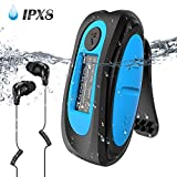 Swimming MP3 Player with Clip, AGPTEK 8GB IPX8 Waterproof Music Player with Headphones for Running Sports, S07E Music Player Shuffle