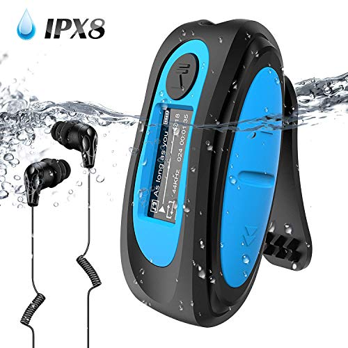AGPTEK IPX8 Waterproof Mp3 Player with Screen, Multi-Functional Clip Music...