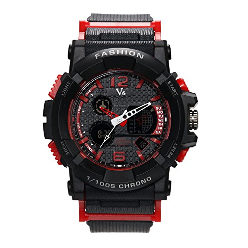 Heren digitale horloges, digitaal horloge zwart klassiek casual horloges met multifunctioneel chronograaf sporthorloges business fashion quartz polshorloge voor mannen