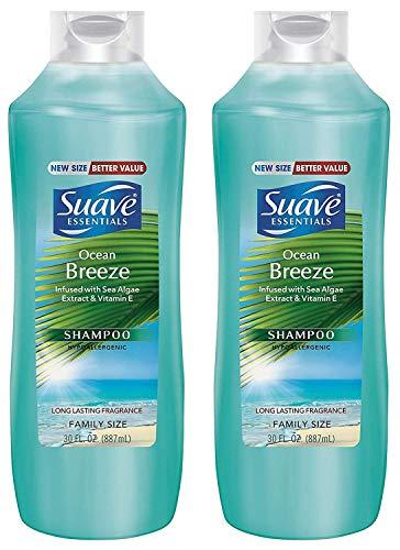 Suave Essentials Shampoo - Ocean Breeze - Family Size - Net Wt. 30 FL OZ (887 mL) Per Bottle - Pack of 2 Bottles