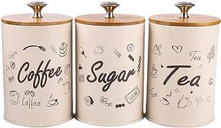 TYTG Pot de Bonbons 3pcs / Set Cuisine Bonnet de Rangement, 1L Home Cuisine Stockage Organisateur Candy Scellé Box boîte A...