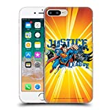 Oficial Justice League DC Comics Orange Burst Supreme Team Carcasa rígida Compatible con Apple iPhone 7 Plus/iPhone 8 Plus