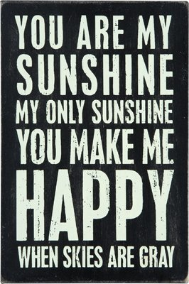 You Are My Sunshine - Mailable Wooden Greeting Card for Birthdays, Anniversaries, Weddings, and Special Occasions