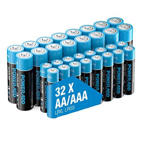 POWERADD AA+AAA Alkaline Batteries Long Lasting, All-Purpose Battery for...