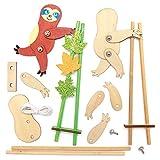 Baker Ross AX577 Faultier Akrobaten Aus Holz Bastelset Für Kinder - 3 Stück, Kreative Künstler- Und Bastelbedarf Für Kinder Zum Basteln Und Dekorieren Zur Winterzeit