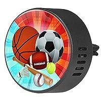 2pcsアロマセラピーディフューザーカーエッセンシャルオイルディフューザーベントクリップサッカーとサッカー