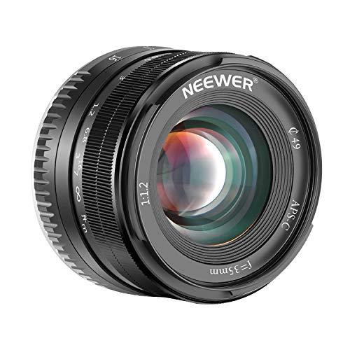 Neewer 35mm F1.2大口径のAPS-Cレンズ X マウントミラーレスカメラに対応
