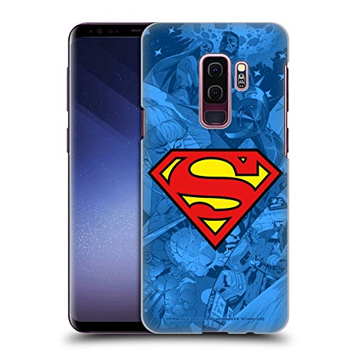 Head Case Designs Officially Licensed Superman DC Comics Collage Comicbook Art Hard Back Case Compatible with Samsung Galaxy S9+ / S9 Plus