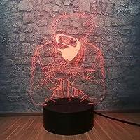 アニメナルトカカシフィギュアLedナイトライト16色の子供の寝室のテーブルの装飾十代の息子の誕生日プレゼント3Dランプ気分