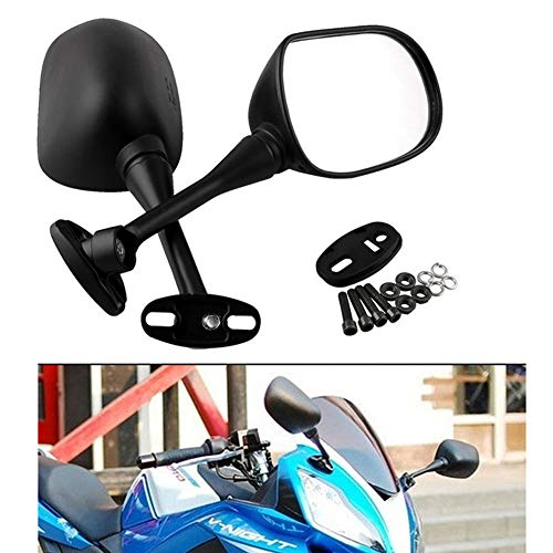 CONRAL Satz von 2 Rückspiegel, Ersatzspiegel für Honda CBR 600RR, CBR1000RR 2004-2007, CBR250R, CBR500R, CBR300R, Suzuki GSXR600 GSXR750
