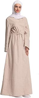 YIBEIANYU Simple Sweet Striped Dress Long Section Of The Middle East