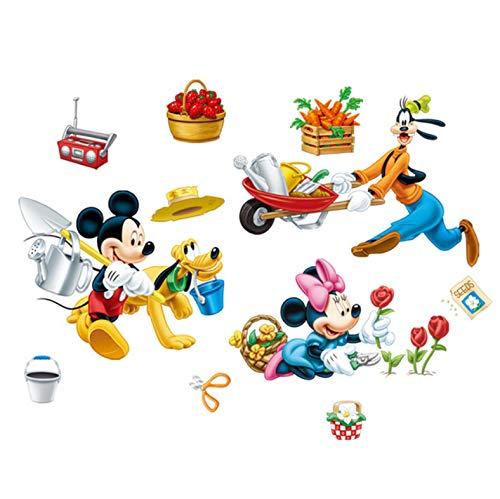 Disney Occupé Ferme Mickey Minnie Goofy Pluto Stickers Muraux Chambres Pour Enfants Décor À La Maison Bande Dessinée Stickers Muraux Pvc Peinture Murale Diy Affiches 40X60Cm