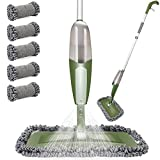 Spray Mop,550ml Water Tank Sprayer,Household Dry Wet Mop with 5 Reusable...