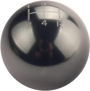 DEWHEL Round Ball Billet M12x1.25 5 Speed Short Throw Shifter Shift Knob MT Manual Gearbox Screw On Titanium