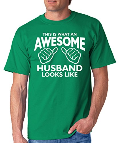 SignatureTshirts Men's This is What an Awesome Husband Looks Like T-Shirt L Kelly Green