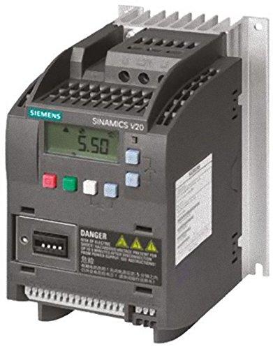 Siemens Sinamics V20–Drehzahlsteller 3AC 380–480V 47–63Hz 0,55kW mit Filter