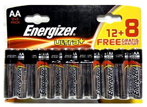 AA Energizer Ultra Plus pile alcaline - Paquet de 20