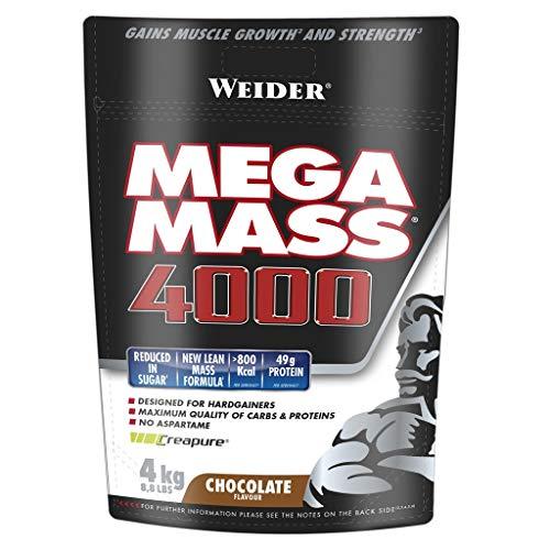 Weider Giant Mega Mass 4000, Cioccolato, 4 kg