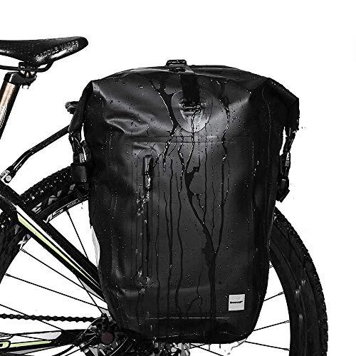 Rhinowalk 自転車 パニアバッグ リアバッグ サイドバッグ バイク 防水 大容量 軽い 収納力抜群 (ブラック)