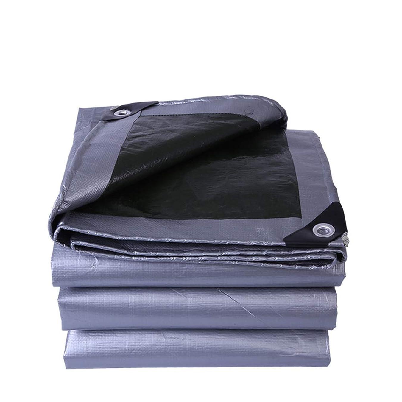 添加剤生活有限HPLL 多目的防水シート 防水防雨布、グレー/ブラック日焼け止めターポリンスチームトラックシェードオックスフォードキャンバスオイルクロスプラスチック屋外ターポリンを厚くする 防水シートのプラスチック布,防雨布 (Size : 3m×5m)