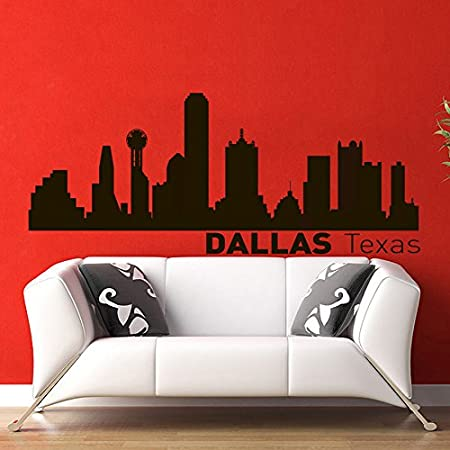 Vinyl Wall Decals Dallas Texas Skyline City Silhouette Sticker Home Decor Art Mural Z596 Amazon Com