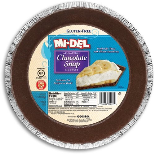 Mi-Del GF Pie Crust, Chocolate Snaps, 7.1 Oz (12 Pk)