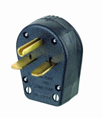 Leviton 931 30/50 Amp, 250 Volt, Plug, Angle, Grounding, Black by Leviton