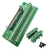 Sysly IDC40 2x20 Pins Male Header Breakout Board Terminal Block Connector with Simple DIN Rail Mounting feet