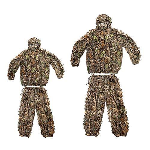 SM SunniMix 2X 3D Leaf Camo Camouflage Jagdkleidung Ghillie Anzug Woodland Jungle