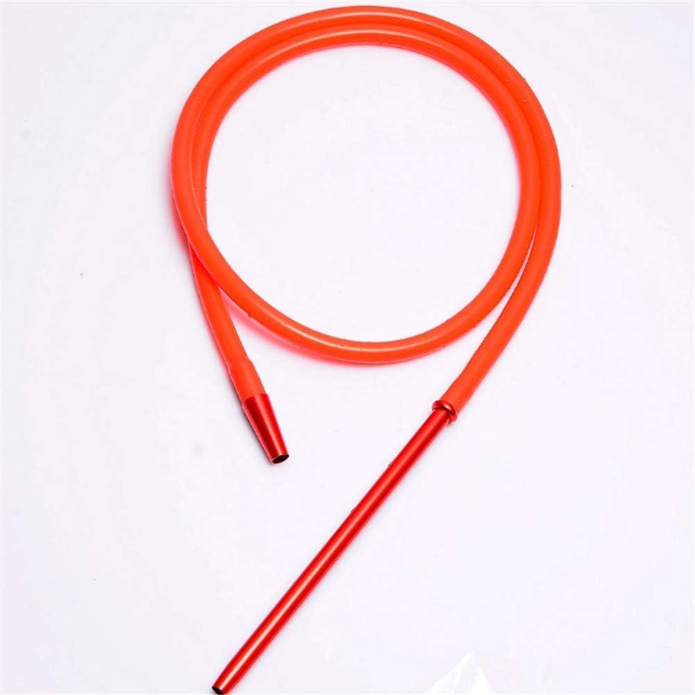 YONGCHY 1,7 M Manguera Shisha cachimba con Aluminio Stem la Manguera del silicón Shisha cachimba de la Manguera Moderna Pipa,Rojo