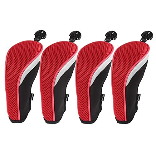 Andux Golf Hybrid Schläger Kopfhauben 4er-Set mit austauschbarer Nr. Tag