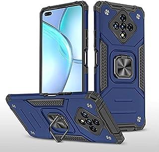 الهاتف - حافظة لـ Infinix Zero 8 + حامل سيارة من السيليكون المقاوم للصدمات حامل حلقة واقية صفر 8i غطاء صلب (أزرق PC + TPU)