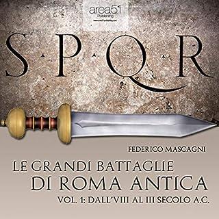 Le grandi battaglie di Roma antica 1 copertina