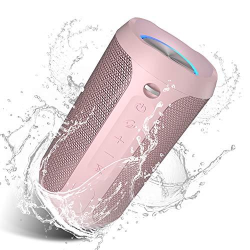 Altavoz bluetooth impermeable de 20W pulso de luz - Rosa