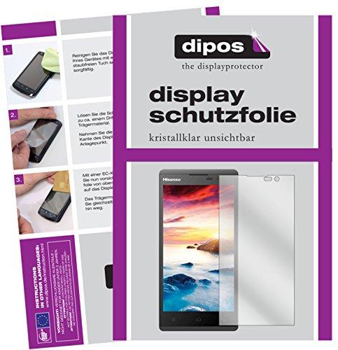 dipos I 2X Schutzfolie klar kompatibel mit Hisense Sero 5 L691 Folie Bildschirmschutzfolie
