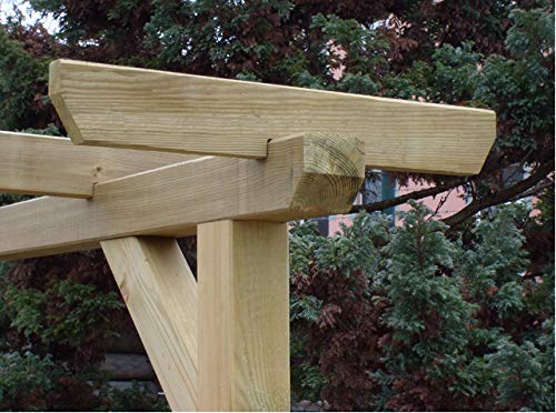 Pergola Jinete estándar, para sillín Barra 70 mm, tratada: Amazon ...