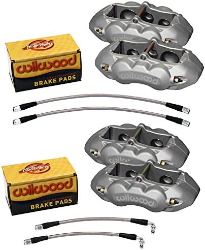 WILWOOD CLEAR ANODIZED BRAKE CALIPER PAD LINE KIT FR Be super welcome 6 Mail order PISTON