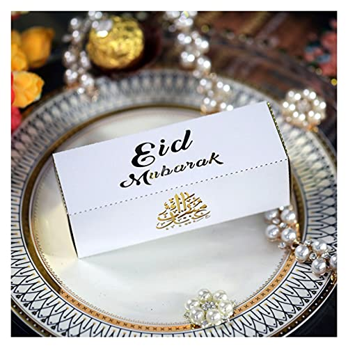 Jjwlkeji Party Tableware 2021 Deco Ramadan Mubarak EID Mubarak Paper Plate Cup Muslim Islamic Festival Party Supplies Ramadan Kareem EID Decoration (Color : Lemon Yellow)