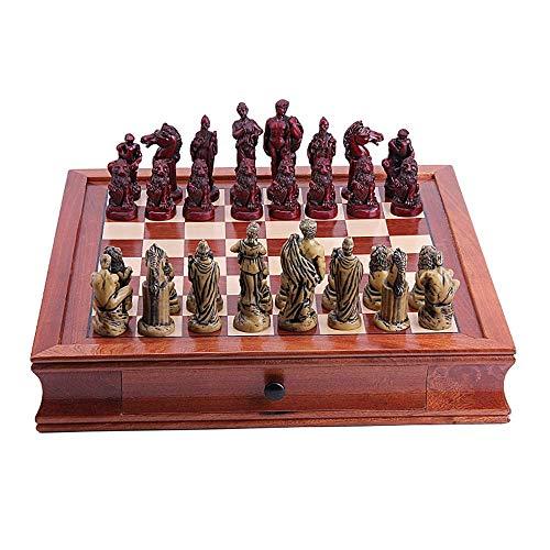 AJH Juego de ajedrez Europeo, Juego de ajedrez para Principiantes para niños y Adultos, Juego de ajedrez magnético Mejorado, Familiares, niños, Amigos y Padres