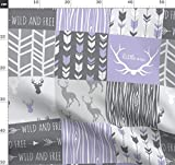 lila, Hirsch, Quilt, lila, lavendel, Patchwork Stoffe -
