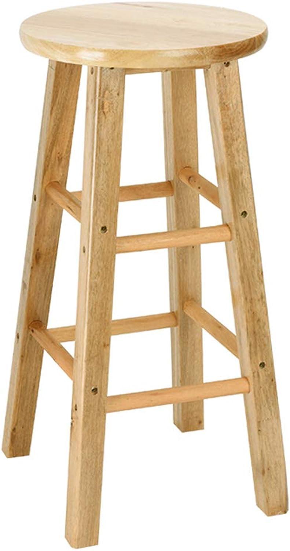 LYXPUZI Modern Minimalist Solid Wood bar Stool, Oak Step Stool bar Chair high Bench Stool shoes Bench (Size   50)