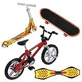 BESPORTBLE Mini Juguetes para Los Dedos Set Finger Skateboard Bicicletas Scooter Pequeña Tabla de Oscilación Movimiento de La Punta del Dedo Juguete Educativo Temprano para Navidad Favores