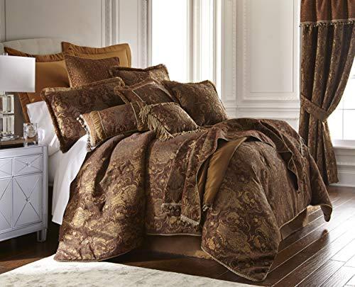 China Art Brown 3-Piece Comforter Set (Queen)