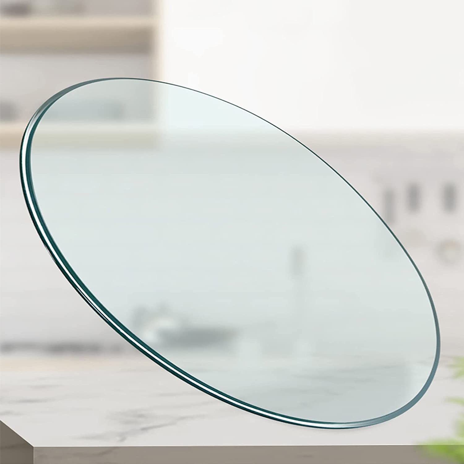 L-KCBTY Round overseas Glass Table Top Customizable 5 ☆ popular Size 1 in Ø 10in~50