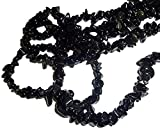 """Sublime Gifts Black Obsidian Long 36"""" Crystal Healing 100% Natural A+ Quality Crystal Chip Chipped Gemstone Necklace"""