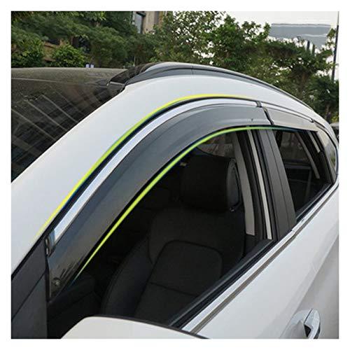 CGDD Windabweiser Für Hyundai Tucson 2016 2017 Fenster Visier Sonnenregen Wind Deflektor Markise Schild Entlüftungsschutz Schattenabdeckung Rauchabzug Schatten