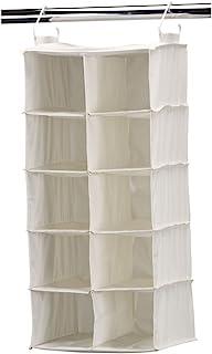 Household Essentials 311344 10 Pocket Hanging Shoe Storage Organizer for Closets Natural Canvas